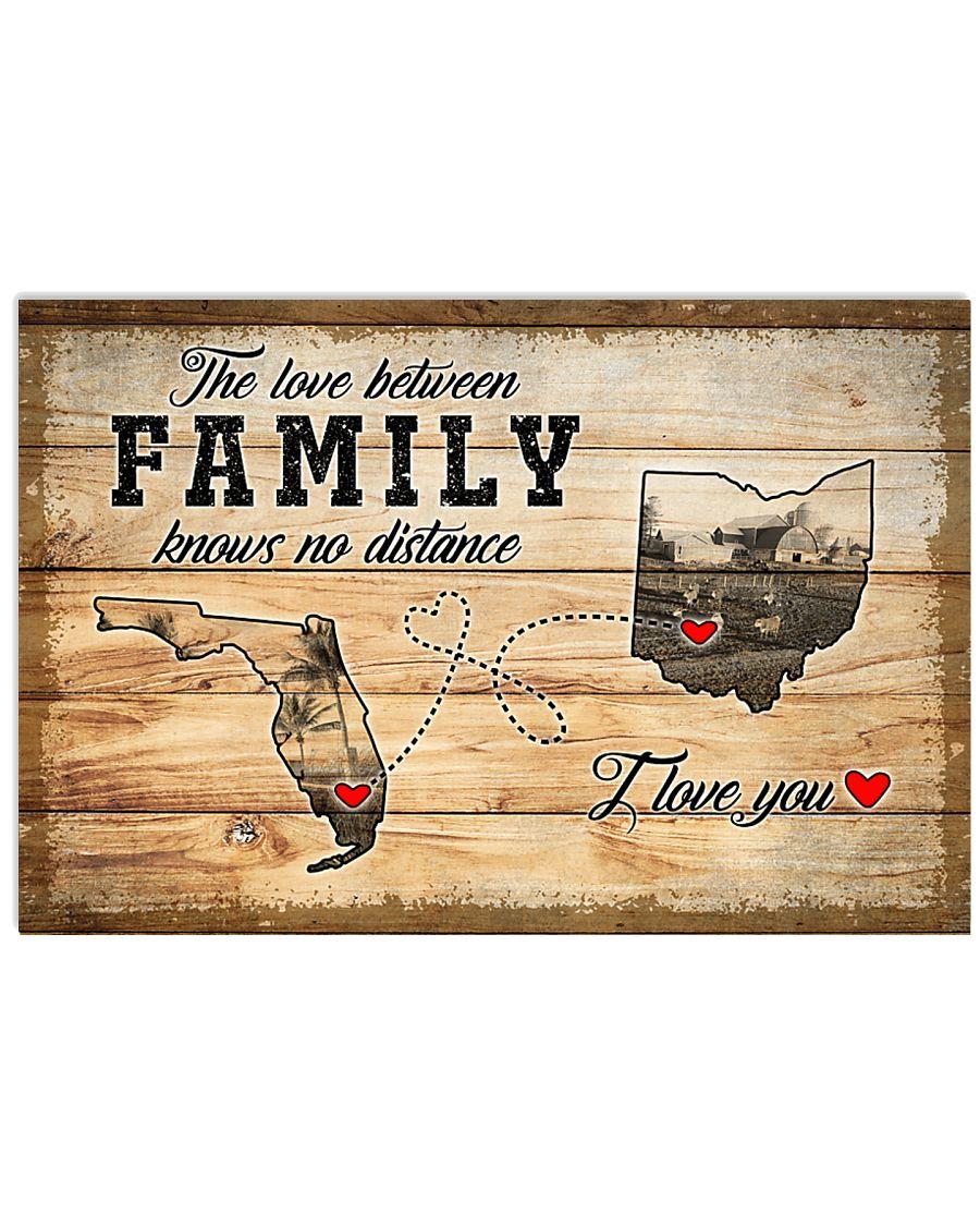 OHIO FLORIDA LOVE BETWEEN FAMILY 24x16 Poster