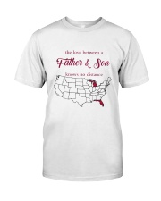 MICHIGAN FLORIDA THE LOVE FATHER AND SON Classic T-Shirt thumbnail
