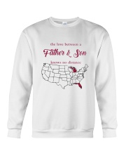 MICHIGAN FLORIDA THE LOVE FATHER AND SON Crewneck Sweatshirt thumbnail