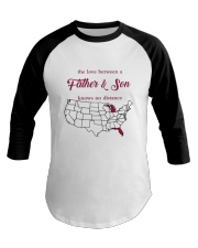 MICHIGAN FLORIDA THE LOVE FATHER AND SON Baseball Tee tile