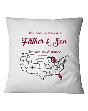 MICHIGAN FLORIDA THE LOVE FATHER AND SON Square Pillowcase thumbnail