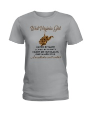 WEST VIRGINIA GIRL LOVE BY PLENTY Ladies T-Shirt tile
