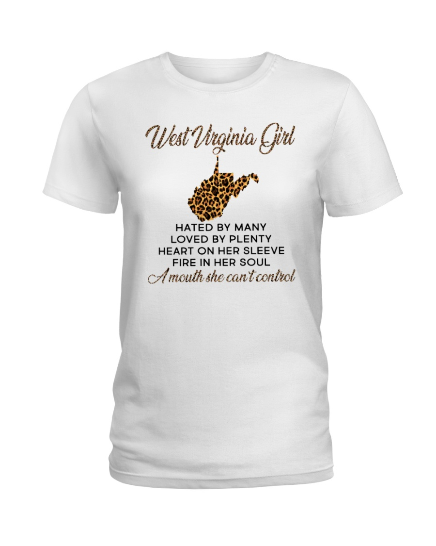 WEST VIRGINIA GIRL LOVE BY PLENTY Ladies T-Shirt