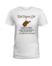 WEST VIRGINIA GIRL LOVE BY PLENTY Ladies T-Shirt front