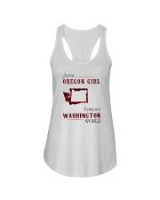 OREGON GIRL LIVING IN WASHINGTON WORLD Ladies Flowy Tank thumbnail