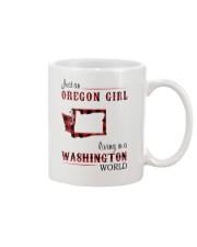 OREGON GIRL LIVING IN WASHINGTON WORLD Mug thumbnail