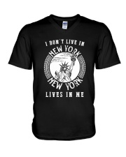 NEW YORK LIVE IN ME V-Neck T-Shirt thumbnail