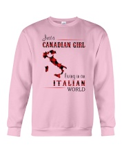 CANADIAN GIRL LIVING IN ITALIAN WORLD Crewneck Sweatshirt thumbnail