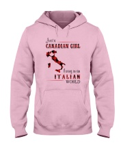 CANADIAN GIRL LIVING IN ITALIAN WORLD Hooded Sweatshirt thumbnail