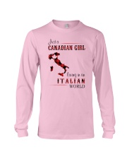 CANADIAN GIRL LIVING IN ITALIAN WORLD Long Sleeve Tee thumbnail