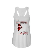 MARYLAND GIRL LIVING IN MAINE WORLD Ladies Flowy Tank thumbnail