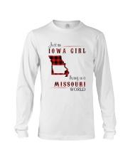 IOWA GIRL LIVING IN MISSOURI WORLD Long Sleeve Tee thumbnail