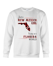 NEW MEXICO GIRL LIVING IN FLORIDA WORLD Crewneck Sweatshirt thumbnail