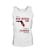 NEW MEXICO GIRL LIVING IN FLORIDA WORLD Unisex Tank thumbnail