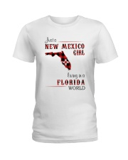 NEW MEXICO GIRL LIVING IN FLORIDA WORLD Ladies T-Shirt thumbnail