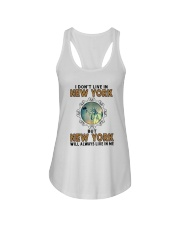 NEW YORK WILL ALWAYS LIVE IN ME Ladies Flowy Tank thumbnail