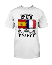 LIVE IN SPAIN BEGAN IN FRANCE Classic T-Shirt tile