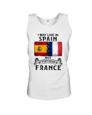 LIVE IN SPAIN BEGAN IN FRANCE Unisex Tank thumbnail