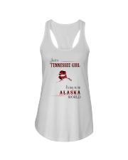 TENNESSEE GIRL LIVING IN ALASKA WORLD Ladies Flowy Tank thumbnail