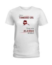 TENNESSEE GIRL LIVING IN ALASKA WORLD Ladies T-Shirt thumbnail