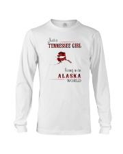 TENNESSEE GIRL LIVING IN ALASKA WORLD Long Sleeve Tee thumbnail