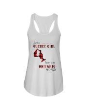 QUEBEC GIRL LIVING IN ONTARIO WORLD Ladies Flowy Tank thumbnail