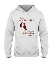 QUEBEC GIRL LIVING IN ONTARIO WORLD Hooded Sweatshirt thumbnail