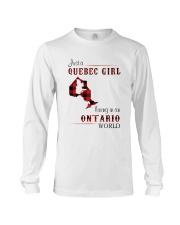QUEBEC GIRL LIVING IN ONTARIO WORLD Long Sleeve Tee thumbnail