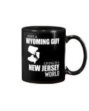 JUST A WYOMING GUY LIVING IN JERSEY WORLD Mug thumbnail