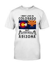 LIVE IN COLORADO BEGAN IN ARIZONA Classic T-Shirt tile