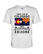 LIVE IN COLORADO BEGAN IN ARIZONA V-Neck T-Shirt thumbnail