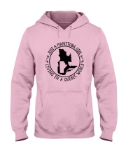 MANITOBA GIRL LIVING IN QUEBEC WORLD Hooded Sweatshirt front