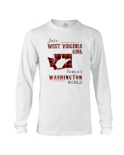 WEST VIRGINIA GIRL LIVING IN WASHINGTON WORLD Long Sleeve Tee thumbnail