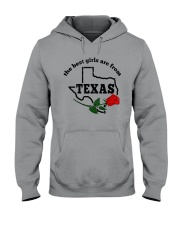 THE BEST GIRLS ARE FROM TEXAS Hooded Sweatshirt thumbnail