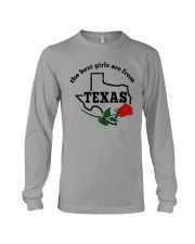 THE BEST GIRLS ARE FROM TEXAS Long Sleeve Tee thumbnail