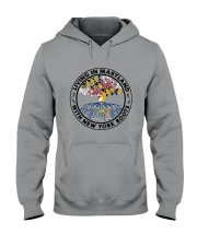 LIVING IN MARYLAND WITH NEW YORK ROOTS Hooded Sweatshirt thumbnail