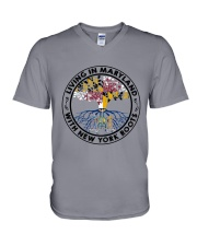 LIVING IN MARYLAND WITH NEW YORK ROOTS V-Neck T-Shirt thumbnail