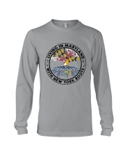 LIVING IN MARYLAND WITH NEW YORK ROOTS Long Sleeve Tee thumbnail
