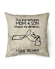 "MICHIGAN TENNESSEE THE LOVE MOM AND SON Indoor Pillow - 16"" x 16"" back"