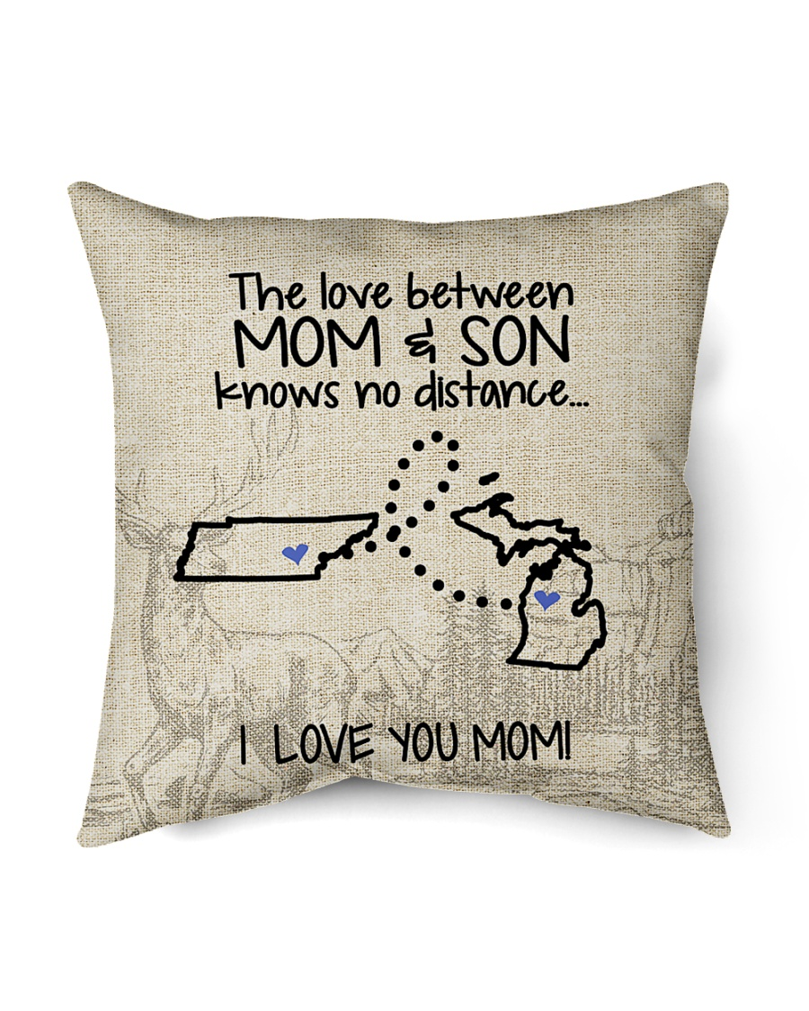 "MICHIGAN TENNESSEE THE LOVE MOM AND SON Indoor Pillow - 16"" x 16"""