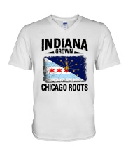INDIANA GROWN CHICAGO ROOTS V-Neck T-Shirt thumbnail