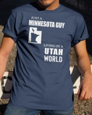 JUST A MINNESOTA GUY LIVING IN UTAH WORLD Classic T-Shirt apparel-classic-tshirt-lifestyle-28