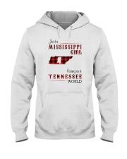 MISSISSIPPI GIRL LIVING IN TENNESSEE WORLD Hooded Sweatshirt thumbnail