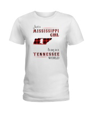 MISSISSIPPI GIRL LIVING IN TENNESSEE WORLD Ladies T-Shirt thumbnail