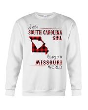 SOUTH CAROLINA GIRL LIVING IN MISSOURI WORLD Crewneck Sweatshirt thumbnail