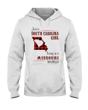 SOUTH CAROLINA GIRL LIVING IN MISSOURI WORLD Hooded Sweatshirt thumbnail