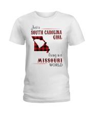 SOUTH CAROLINA GIRL LIVING IN MISSOURI WORLD Ladies T-Shirt thumbnail