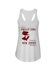 PHILLY GIRL LIVING IN NEW JERSEY WORLD Ladies Flowy Tank thumbnail