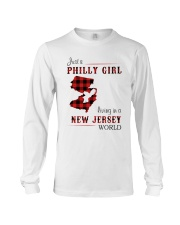 PHILLY GIRL LIVING IN NEW JERSEY WORLD Long Sleeve Tee thumbnail