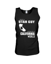 JUST A UTAH GUY LIVING IN CALIFORNIA WORLD Unisex Tank thumbnail